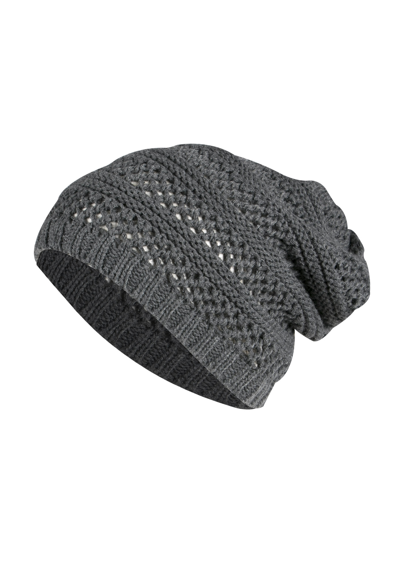 Ladies' Slouchy Hat, CHARCOAL, hi-res