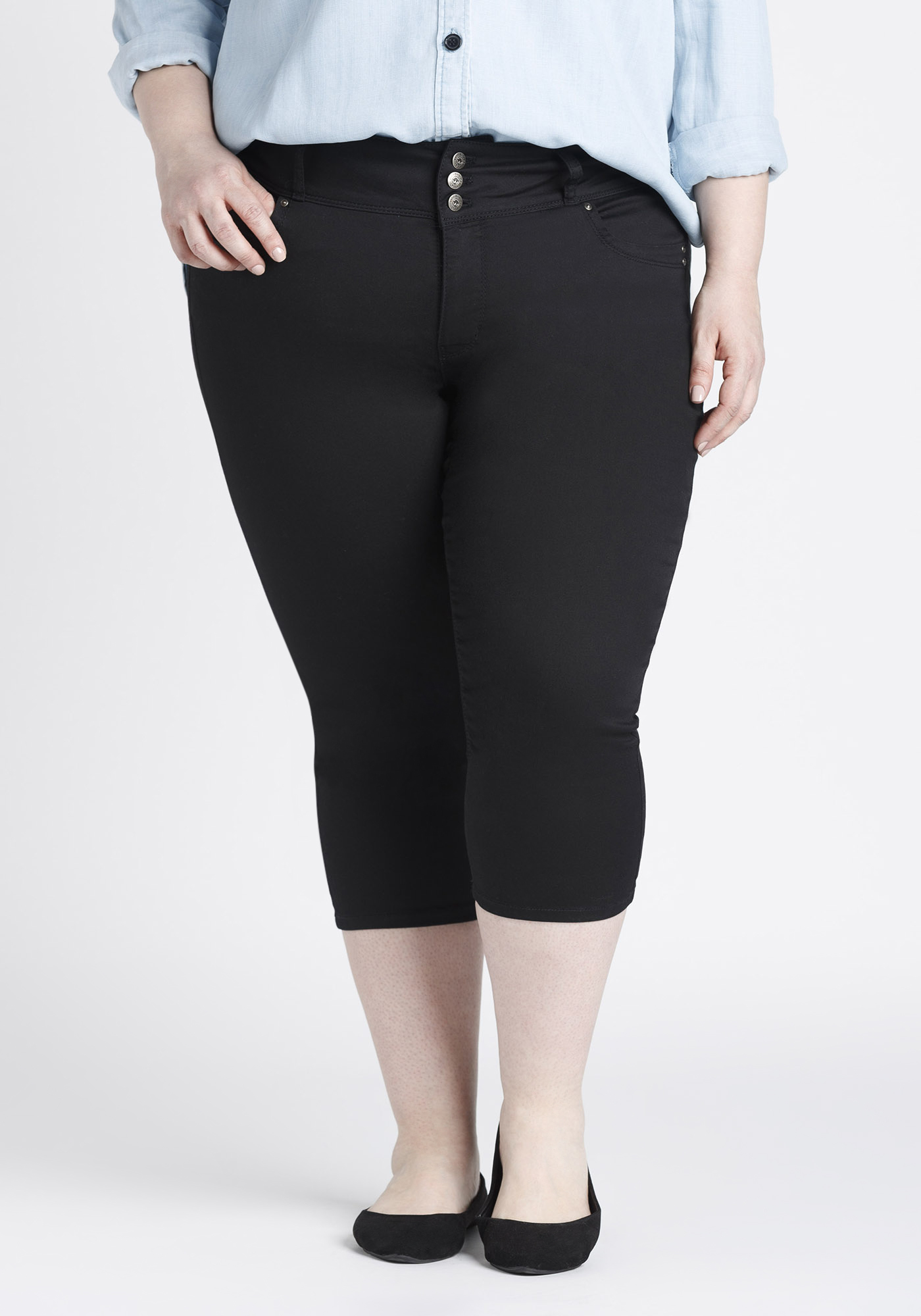 59e2b81b687 Women s Plus Size Skinny Capri