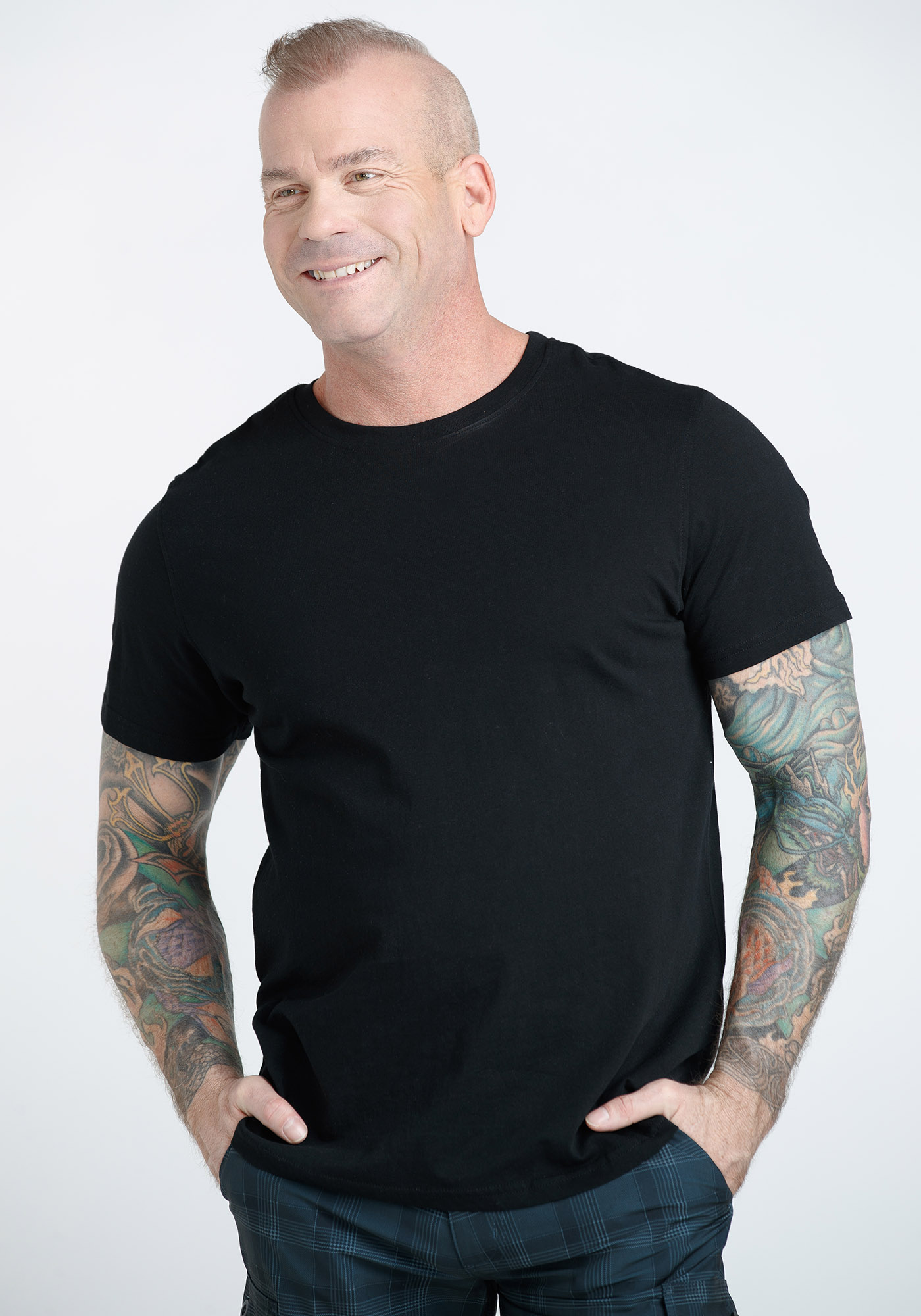 Men's Everyday Crew Neck Tee, BLACK, hi-res