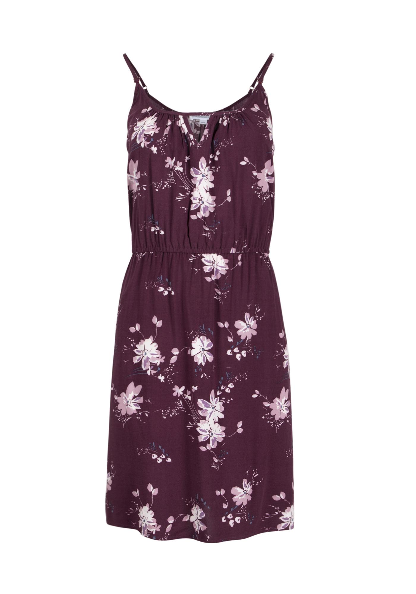 Women's Floral Keyhole Dress