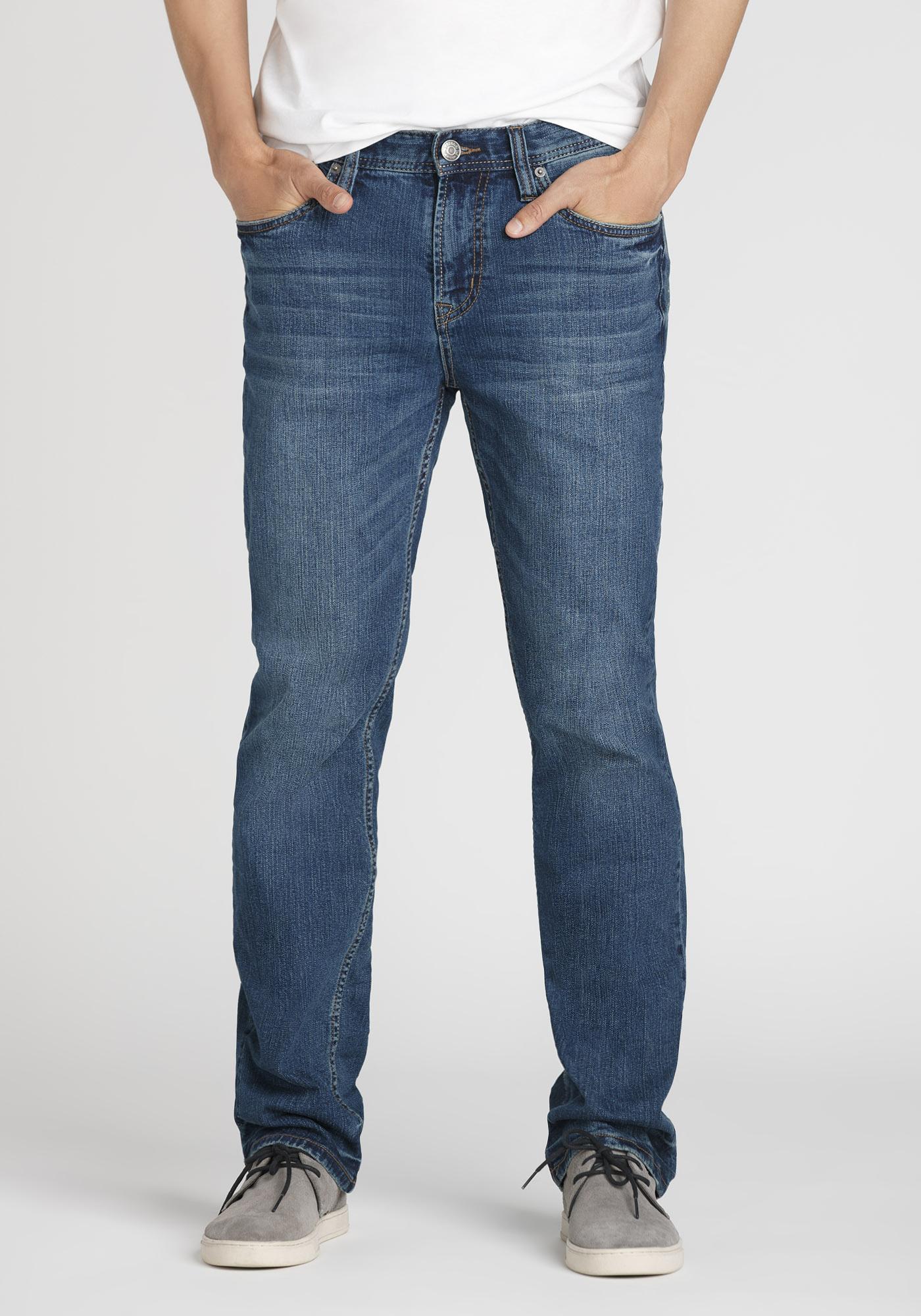 daf4319c Men's Mid Wash Slim Straight Jeans, MEDIUM WASH, hi-res
