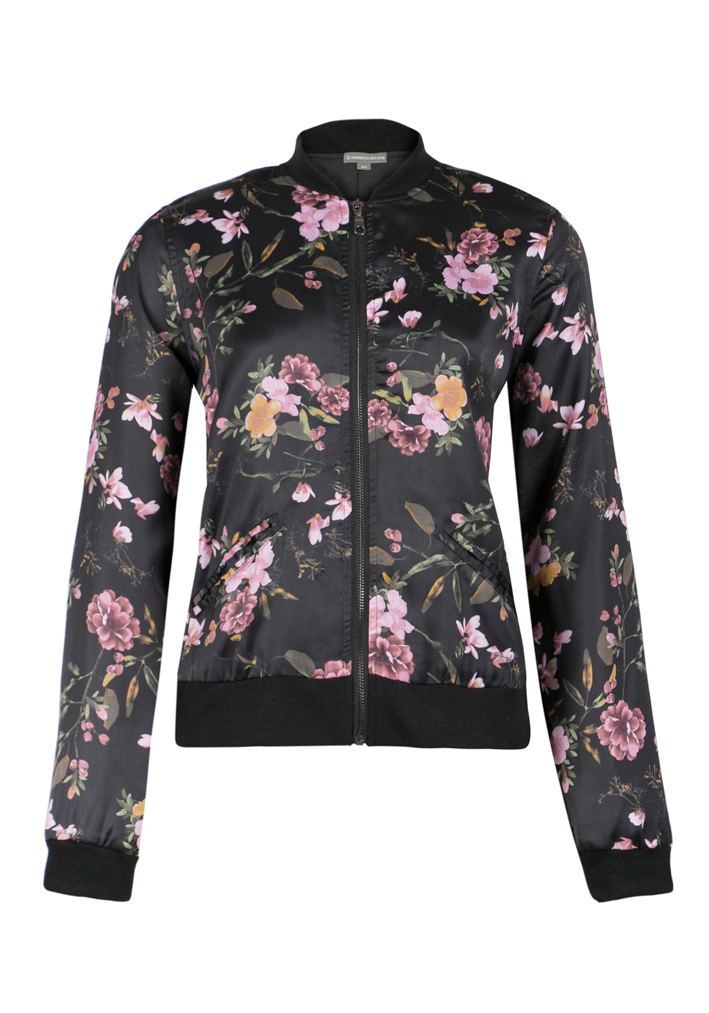 2990705919ad Ladies  Floral Bomber Jacket