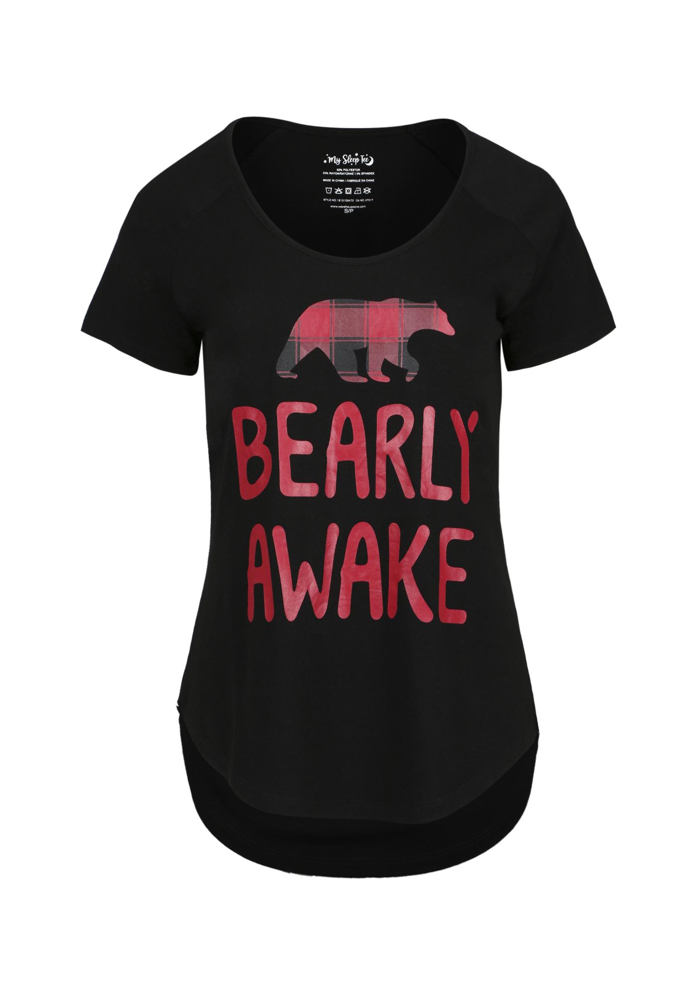 Ladies Bearly Awake Sleep Tee