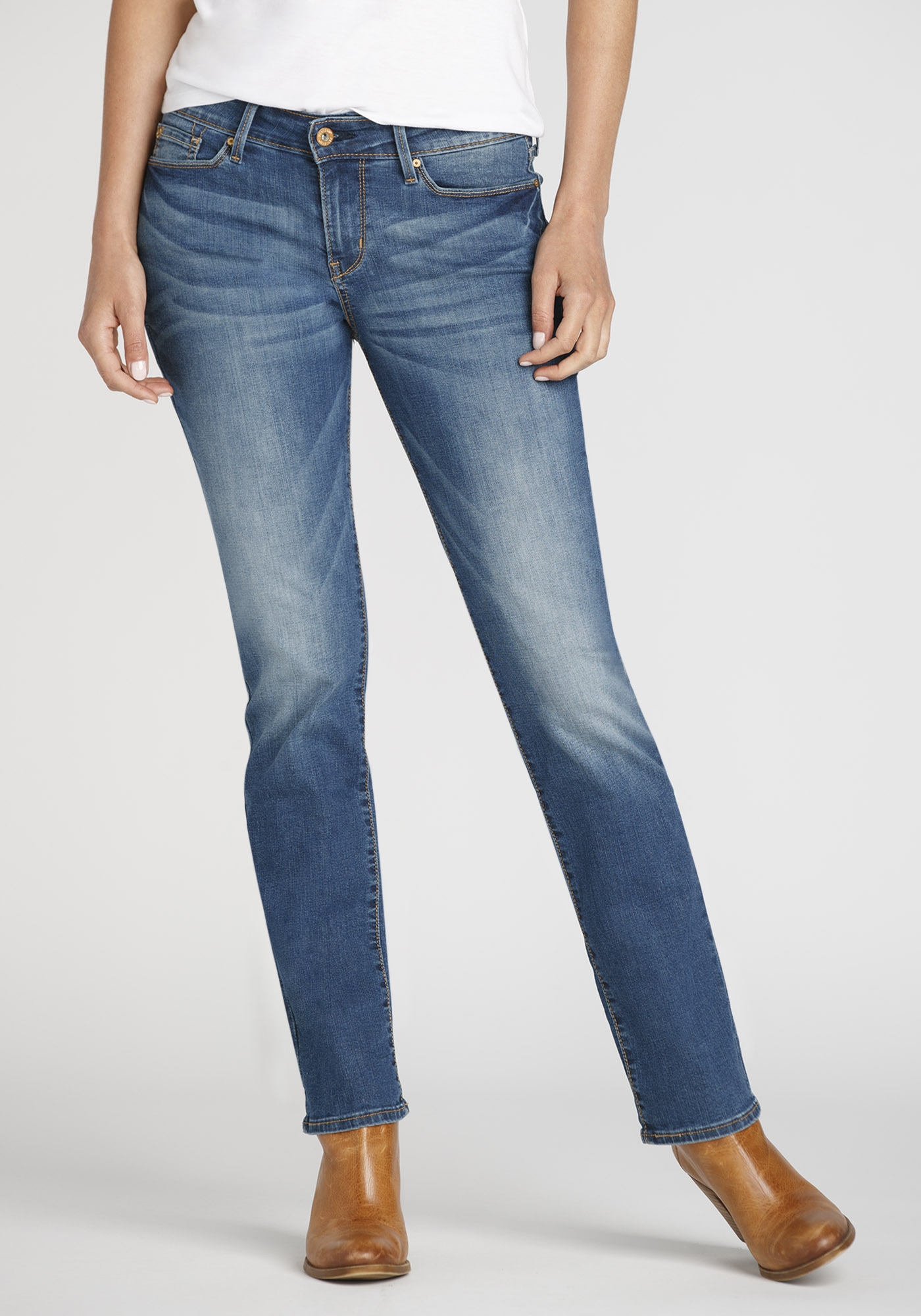 Mens Relaxed Straight Jeans