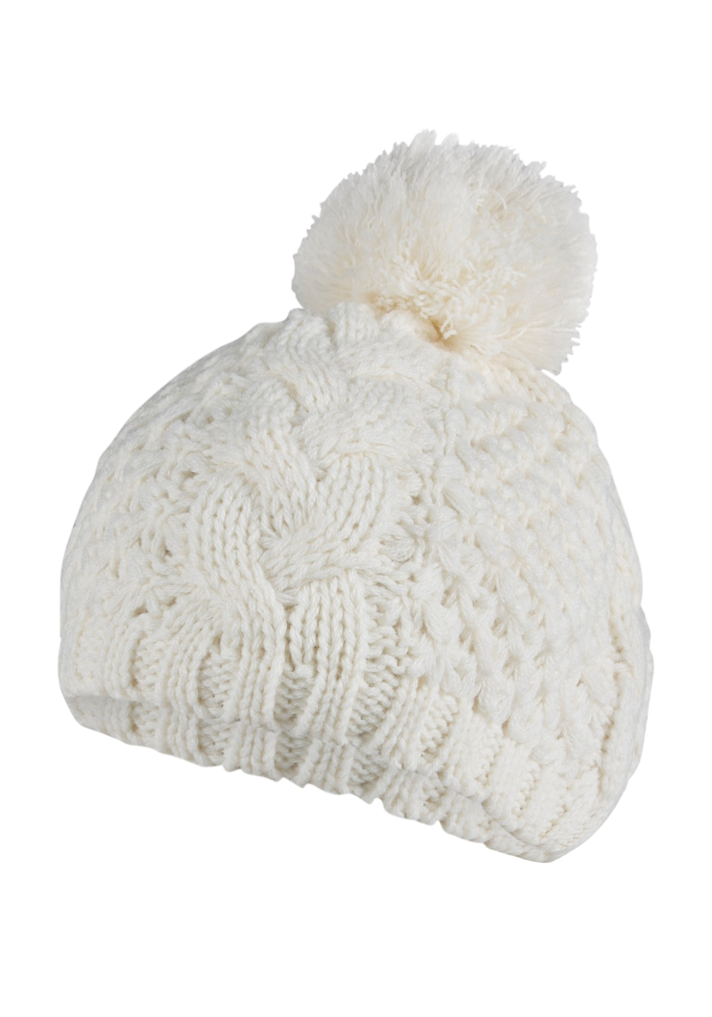 Ladies' Pom Pom Beret, WINTER WHITE, hi-res