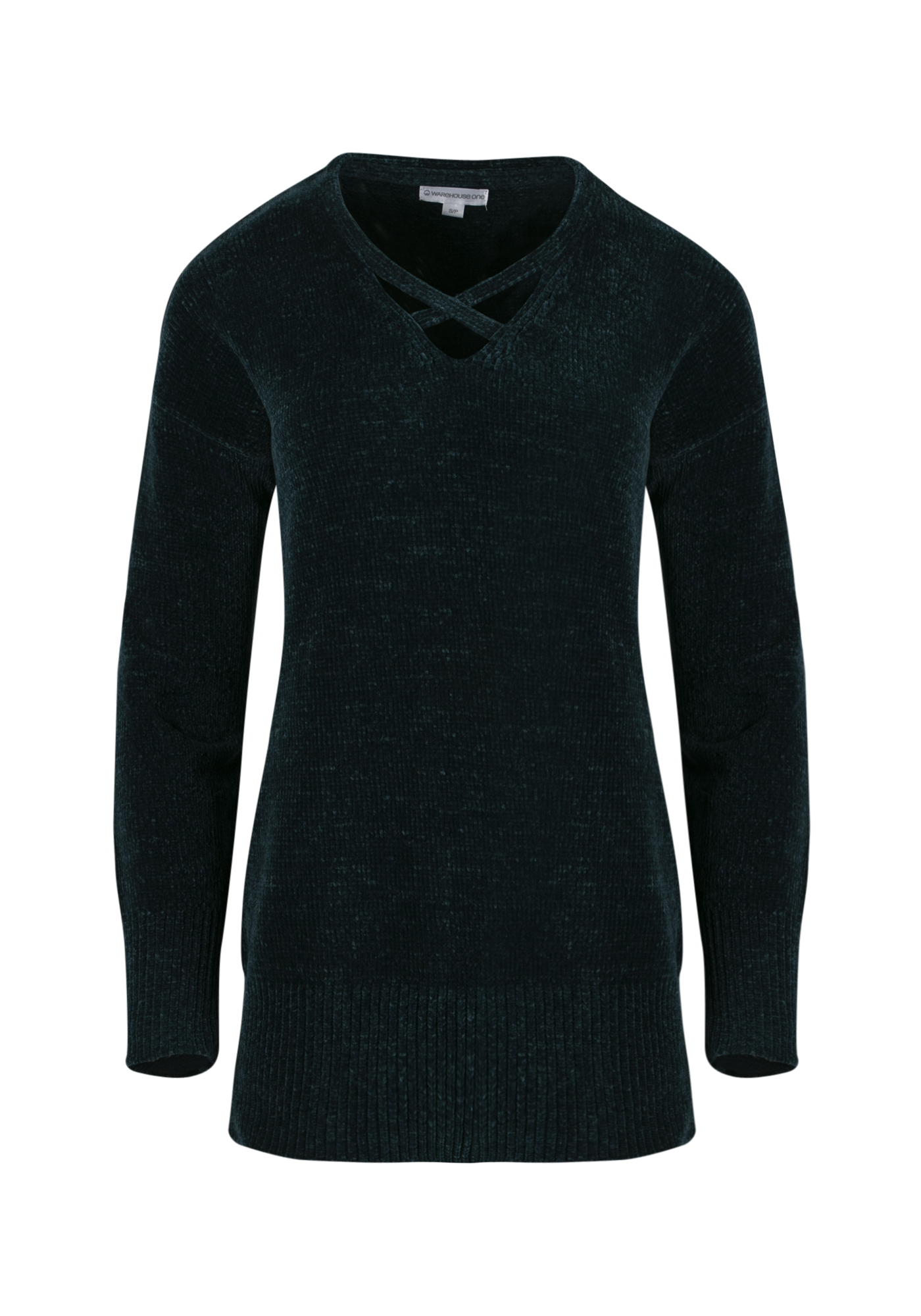 Women's Chenille Sweater, TEAL, hi-res