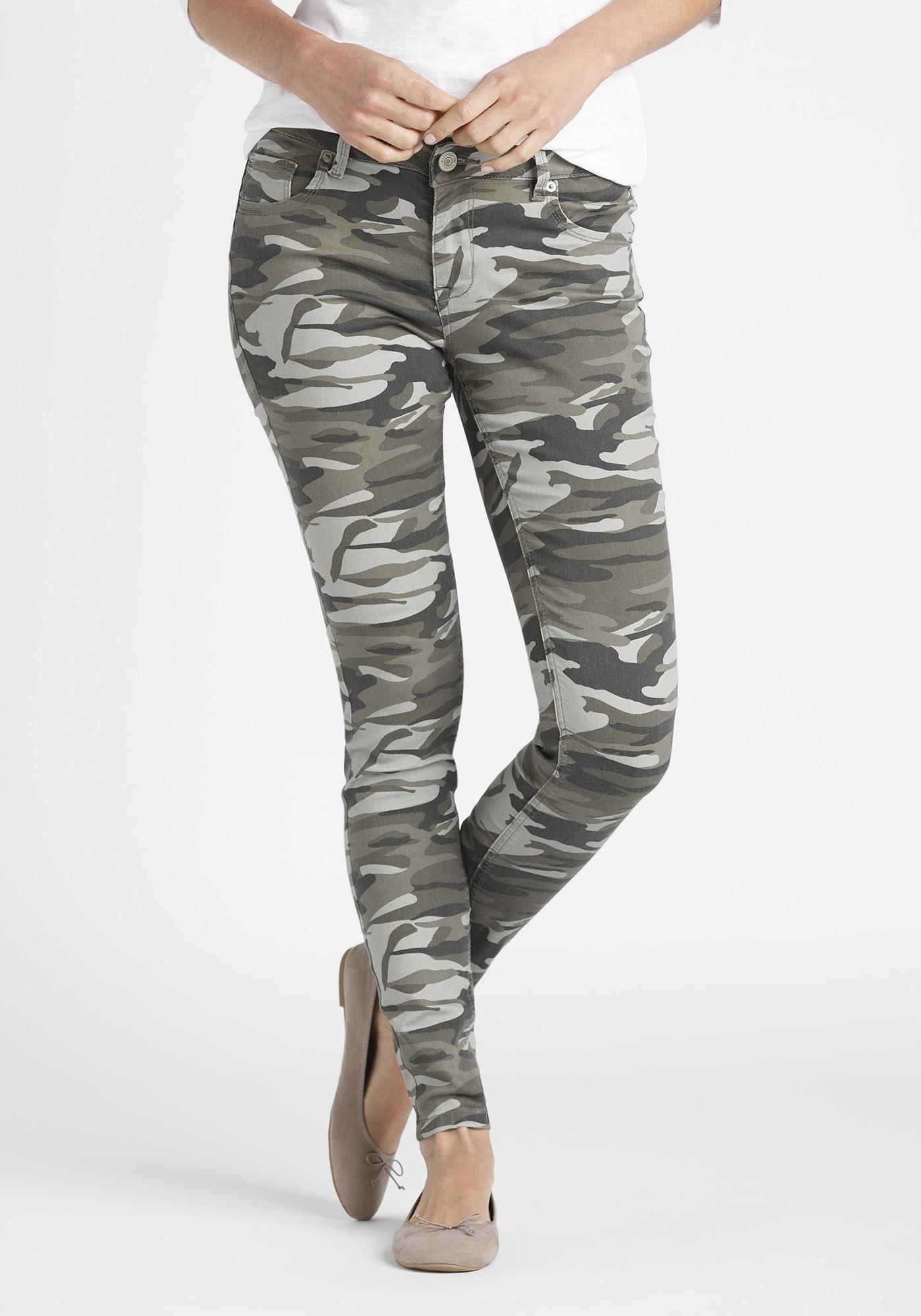 1d10b36cd15e6 Women's Camo Skinny Pants, LIGHT OLIVE, hi-res
