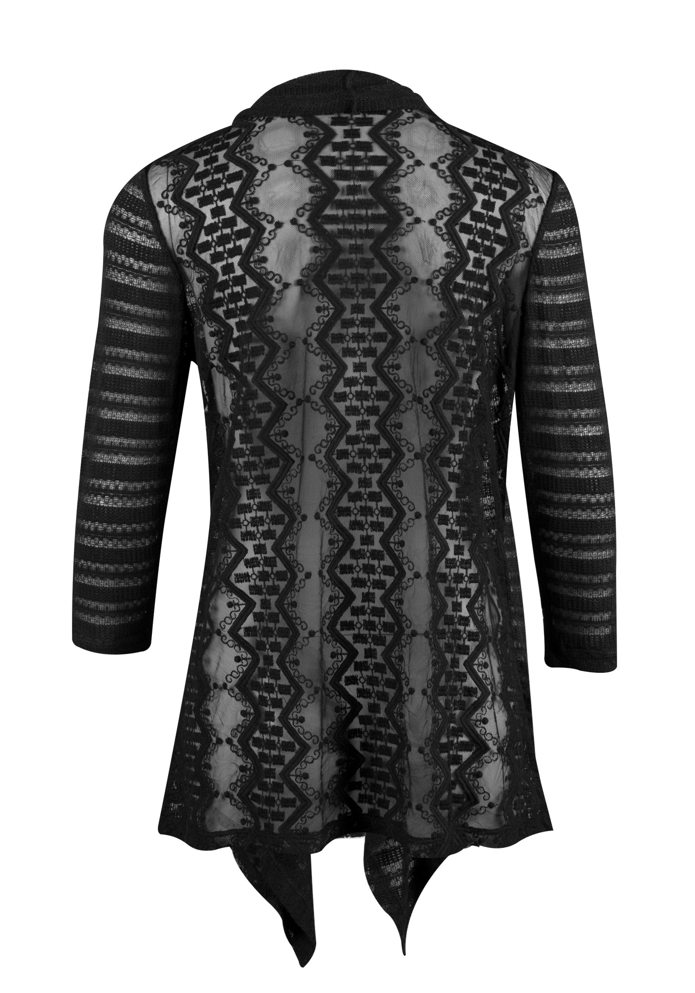 drapes black clothing in drape james normal gallery perse lyst open product cardigan