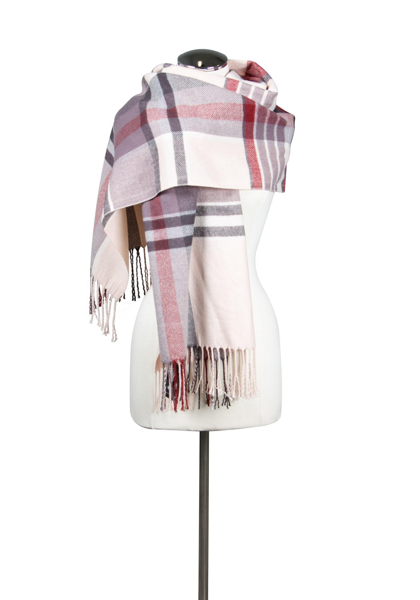 Women S Plaid Blanket Scarf Warehouse One