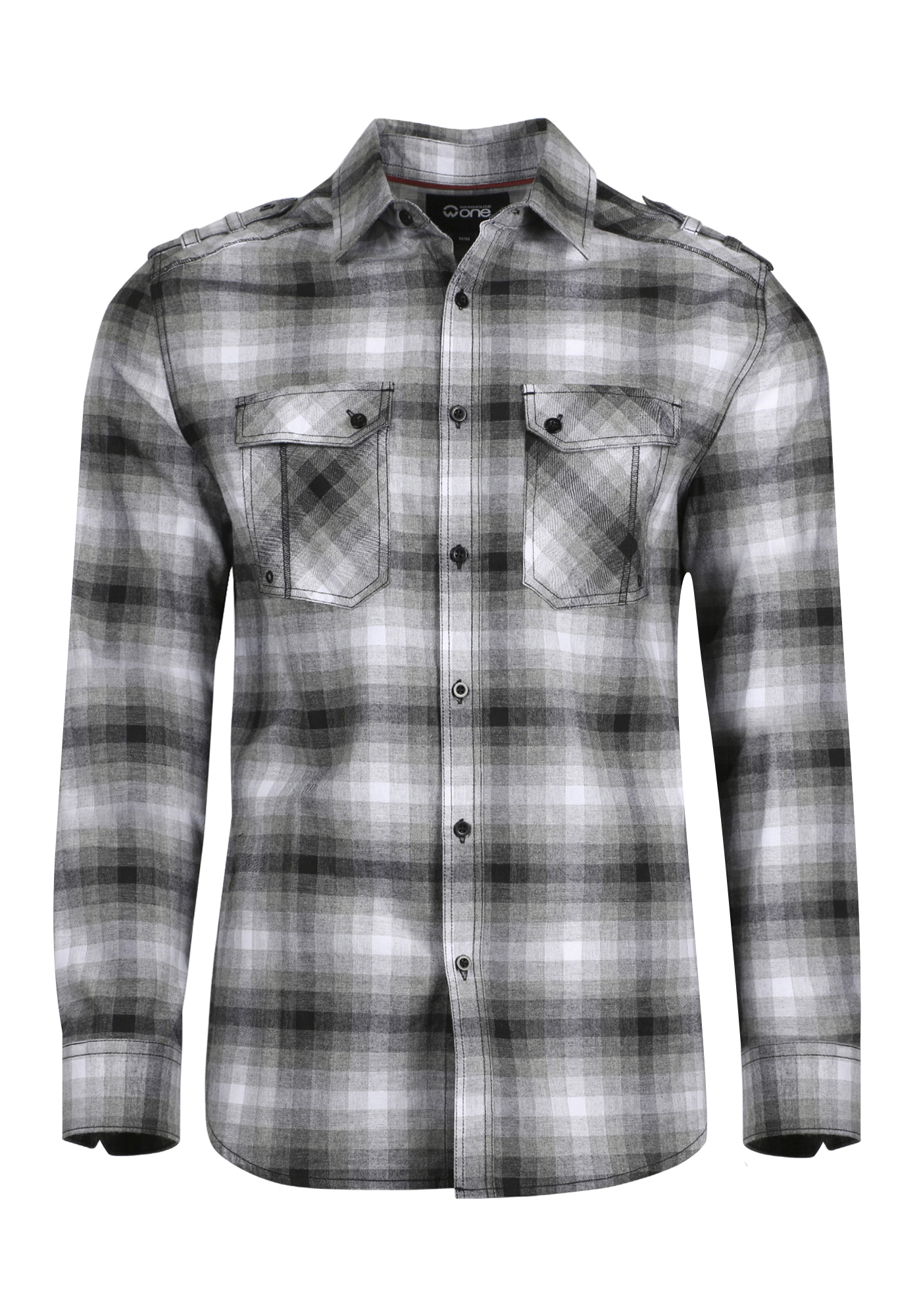 Men S Shadow Plaid Flannel Shirt Warehouse One