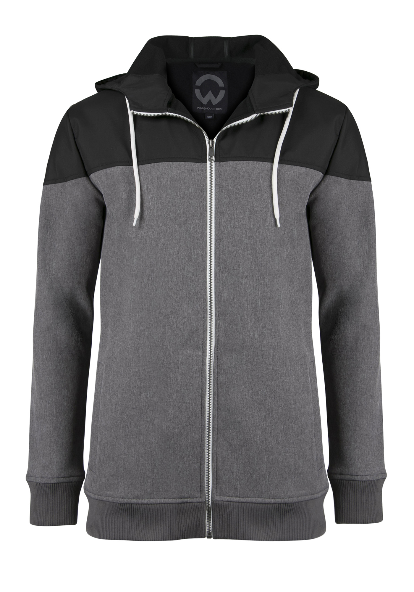 Men's Colour Block Softshell Jacket, CHARCOAL, hi-res