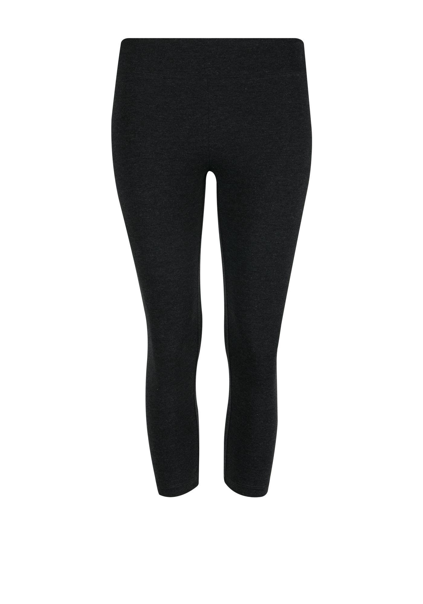 Ladies' Wide Waist Capri Legging, CHARCOAL, hi-res