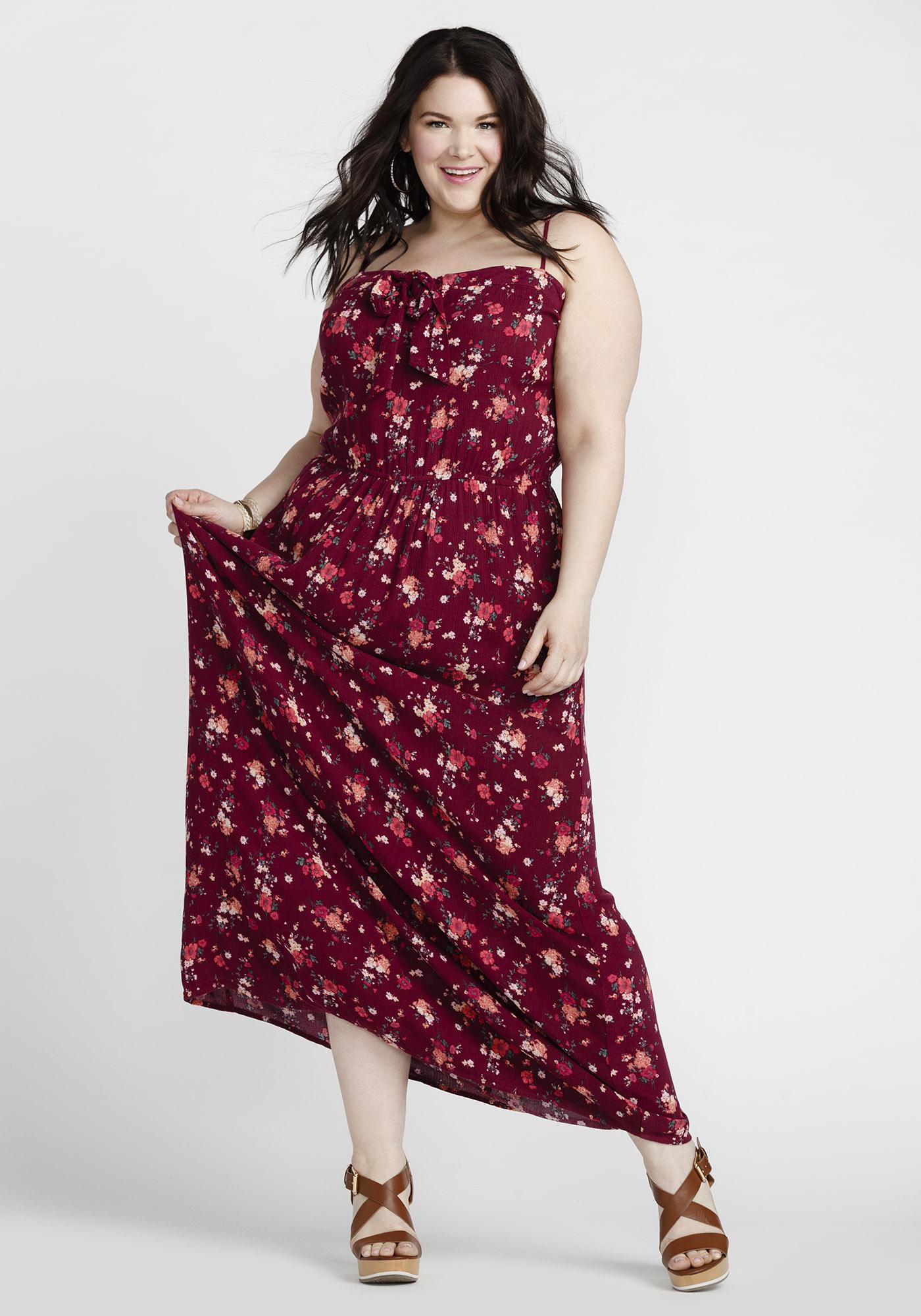 c2b30da02ba0 ... Womens Floral Tie Front Maxi Dress