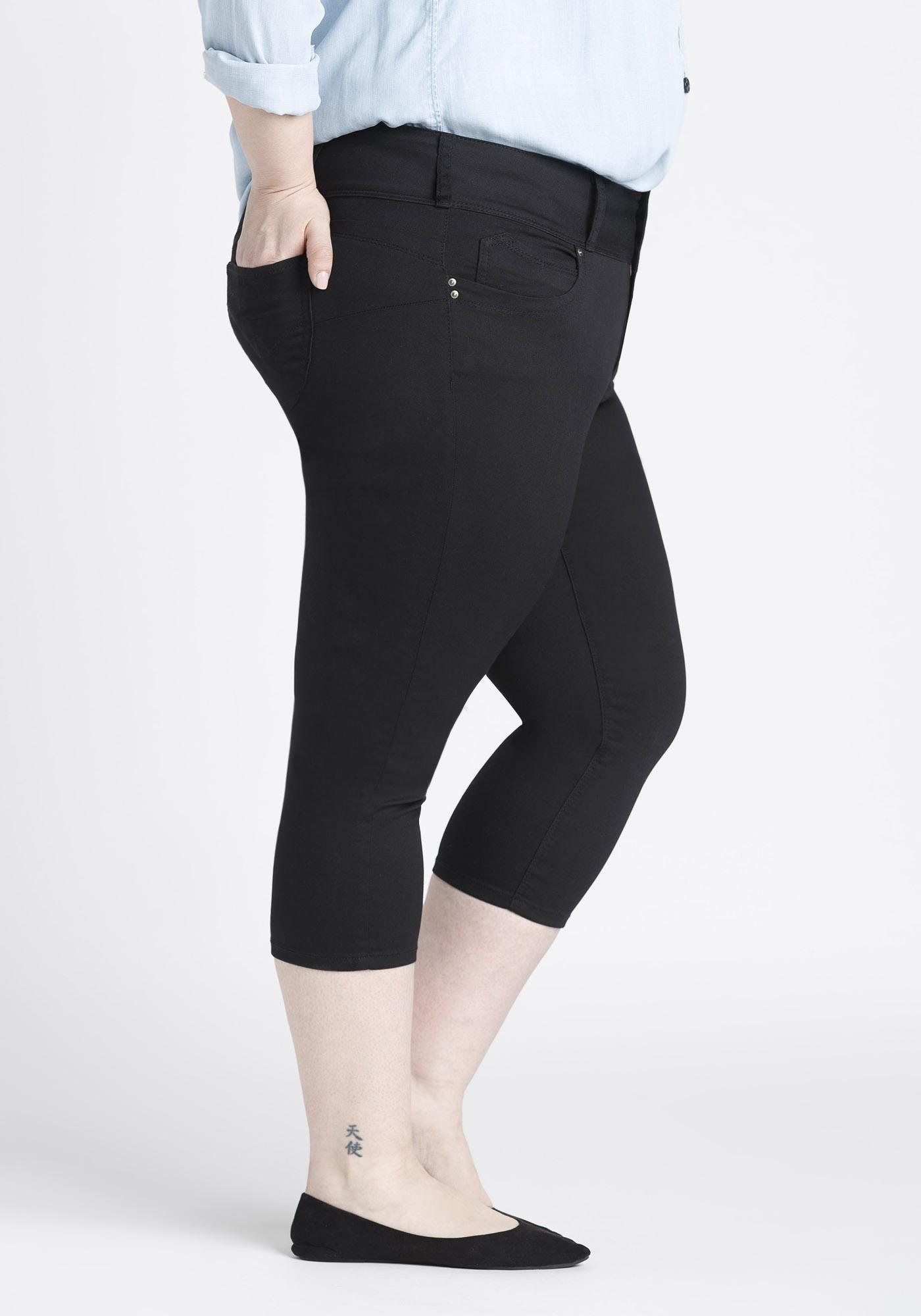 92facc5b97e ... Womens Plus Size Skinny Capri