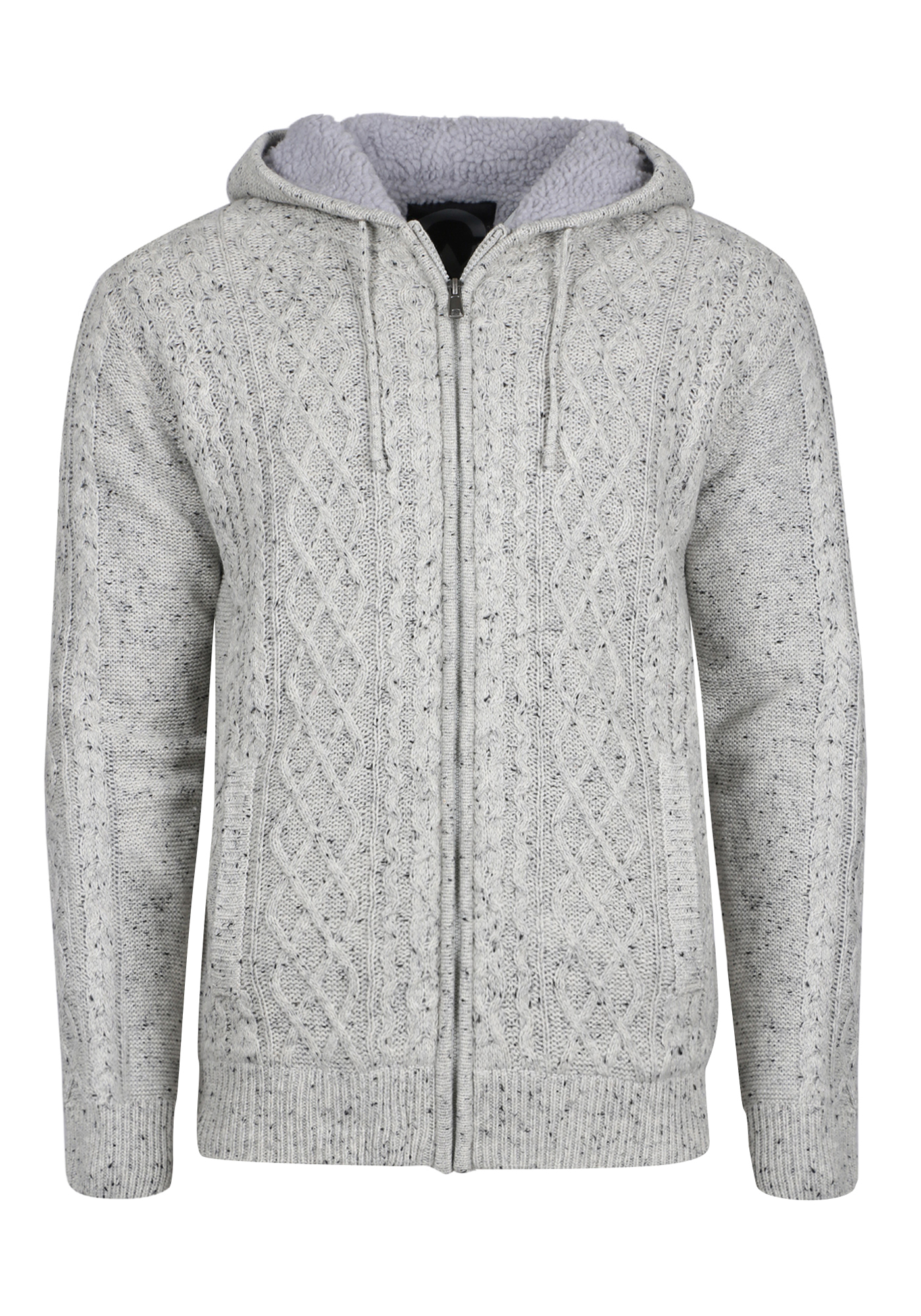 Mens Cable Knit Sweater Jacket