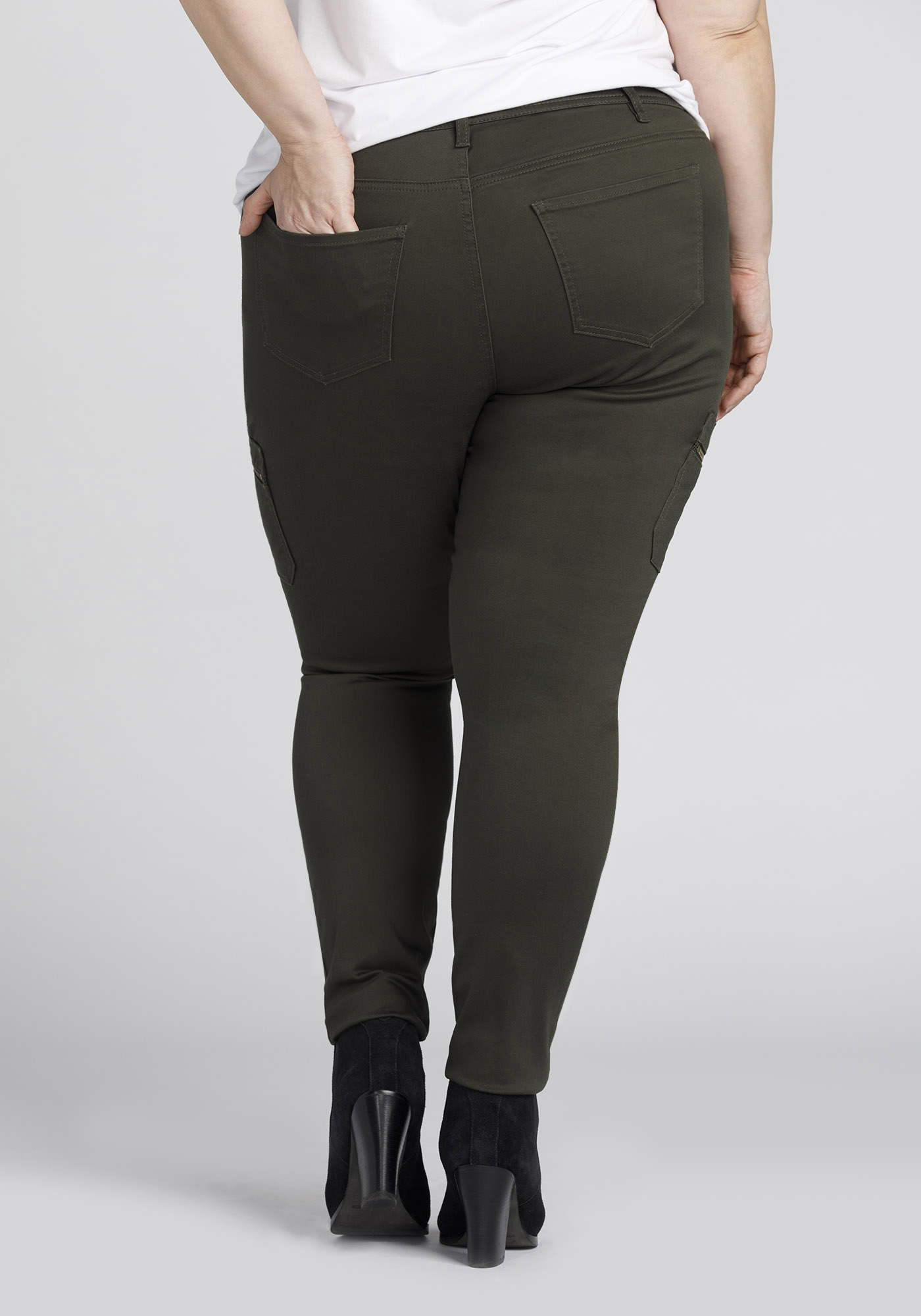 35881bb9a5d ... Womens Plus Size Skinny Cargo Pants