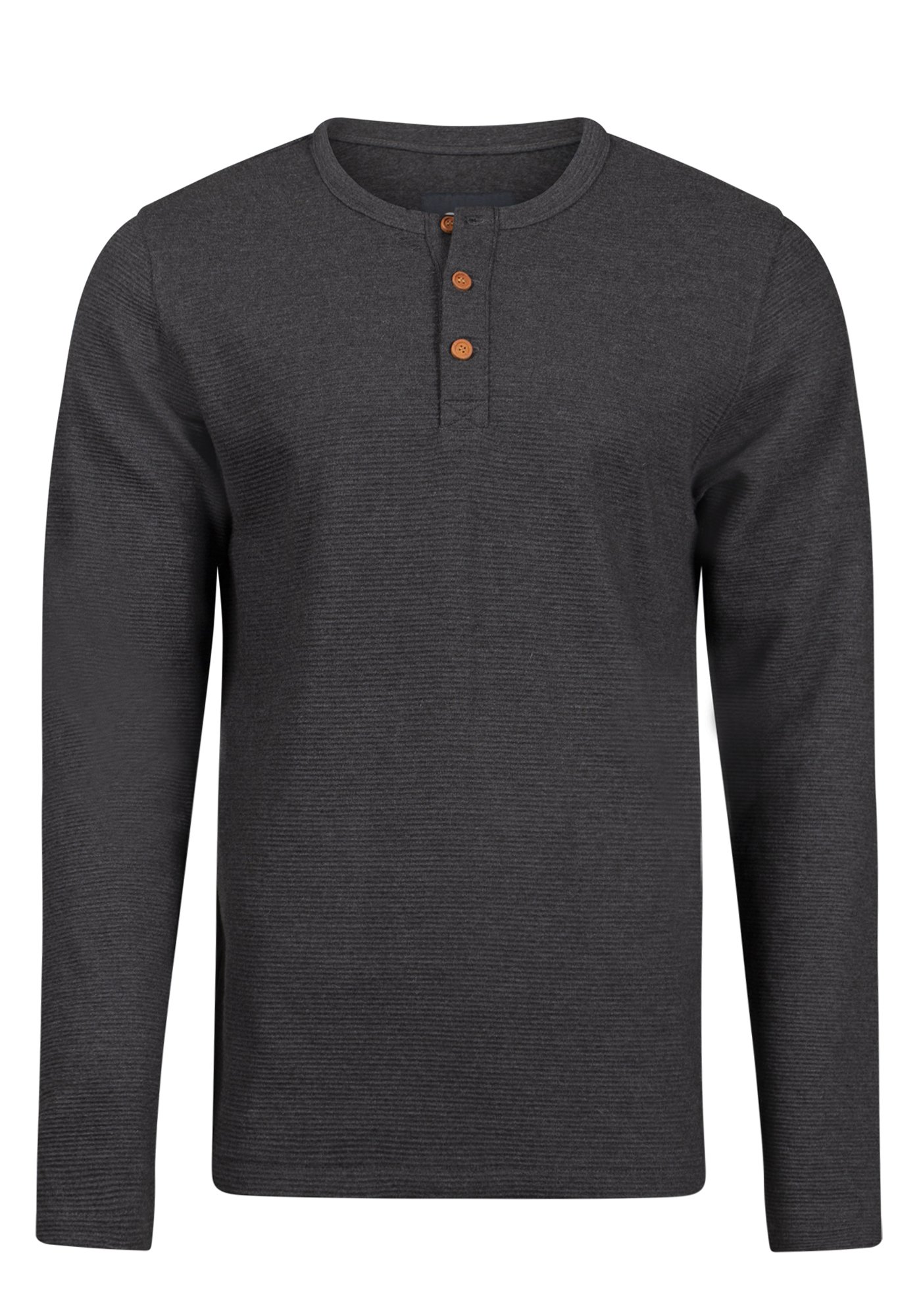 Men's Henley Rib Knit Sweater, BLACK, hi-res
