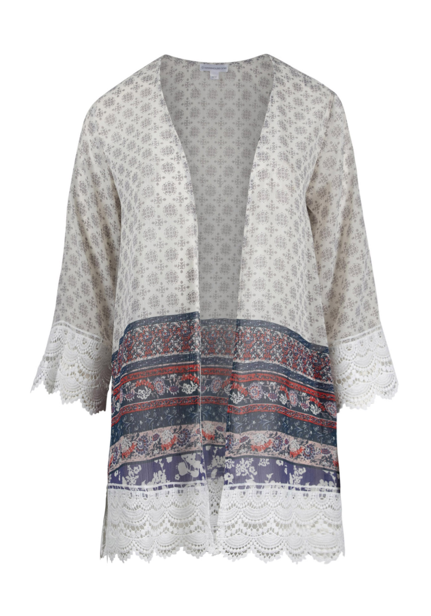 3e71877e266 Women s Crochet Trim Floral Kimono