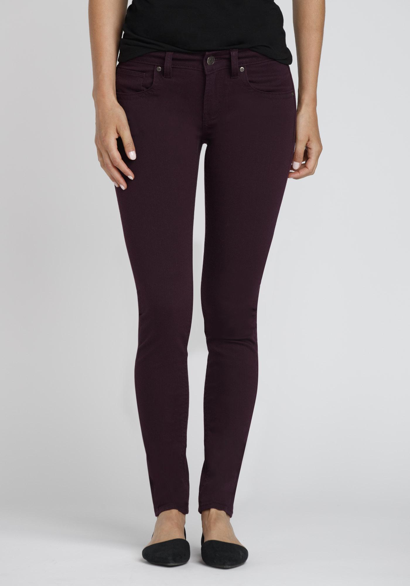 Las Colour Last Skinny Jeans Dark Purple Hi Res