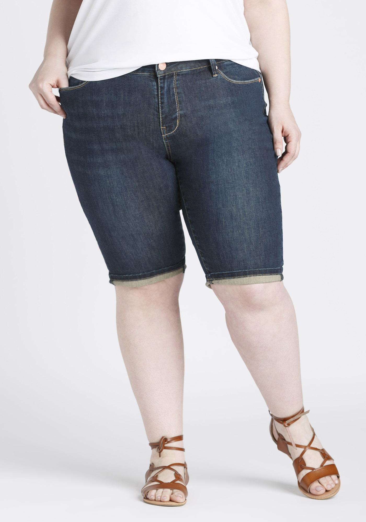 13ce4054332 Women s Plus Size Slim Bermuda Short