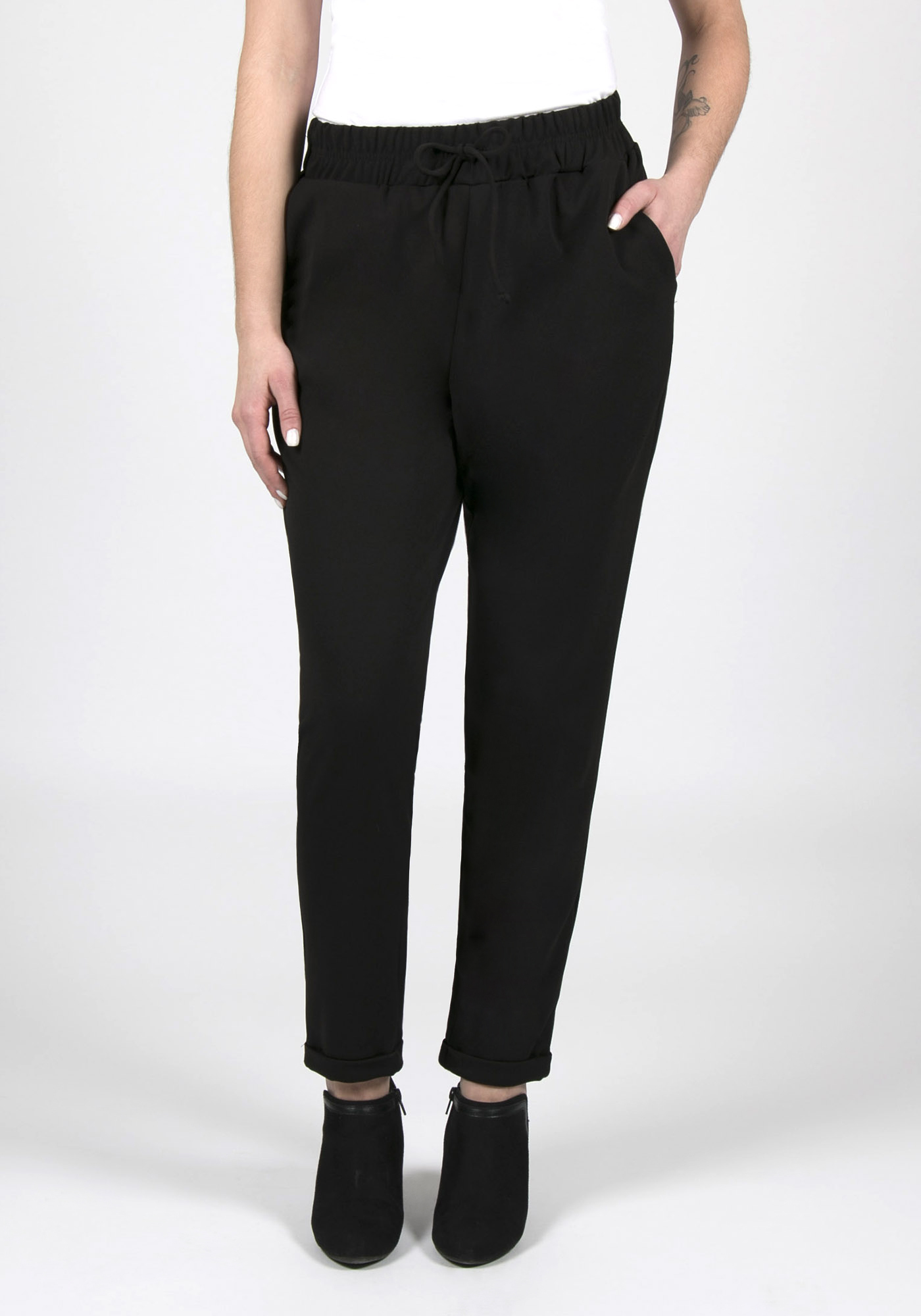 Ladies' Cuffed Jogger, BLACK, hi-res