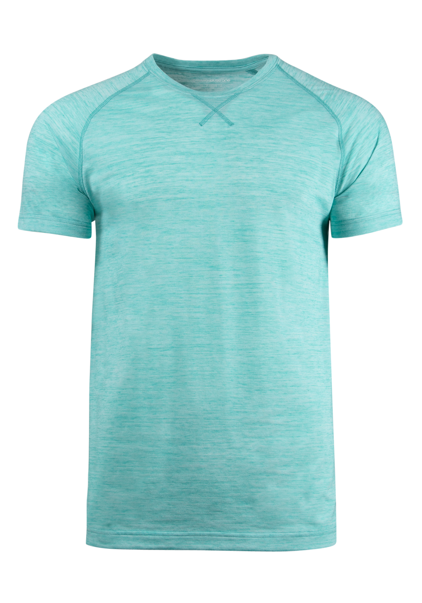 Men's Everyday Crew Neck Tee, AQUA GREEN, hi-res