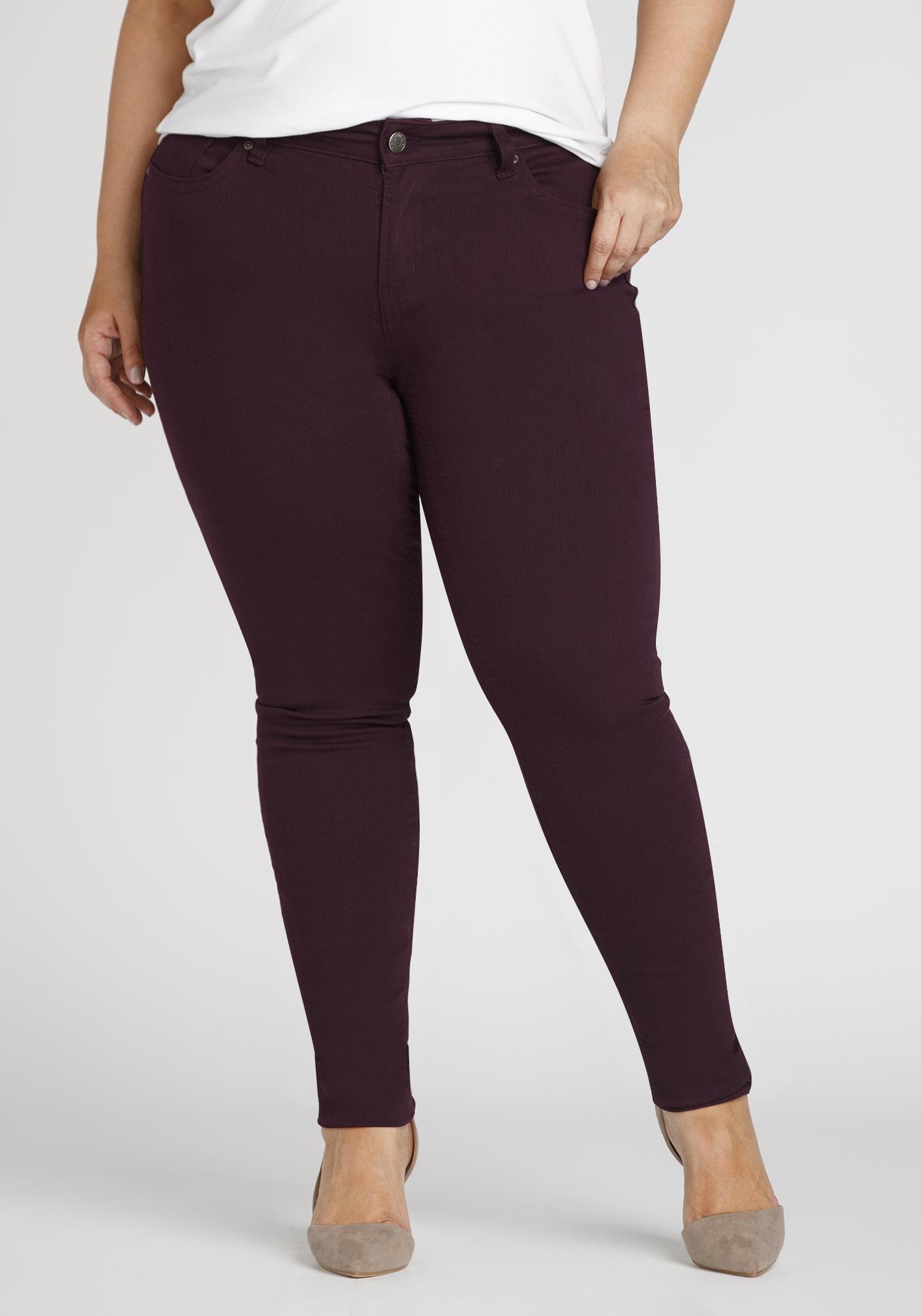 Las Plus Colour Last Skinny Jeans Dark Purple Hi Res