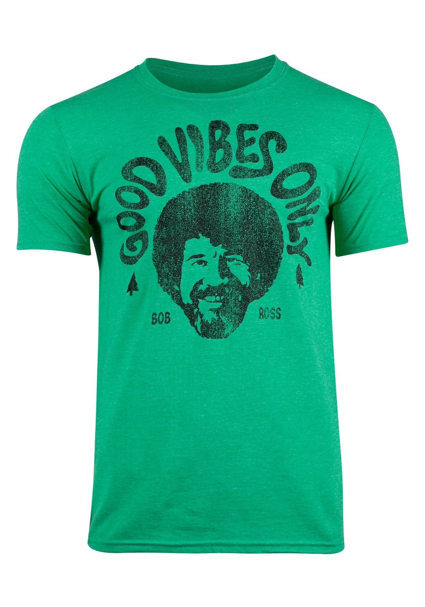 4b7d163ed Men's Bob Ross Good Vibes Only Tee, KELLY GREEN, hi-res