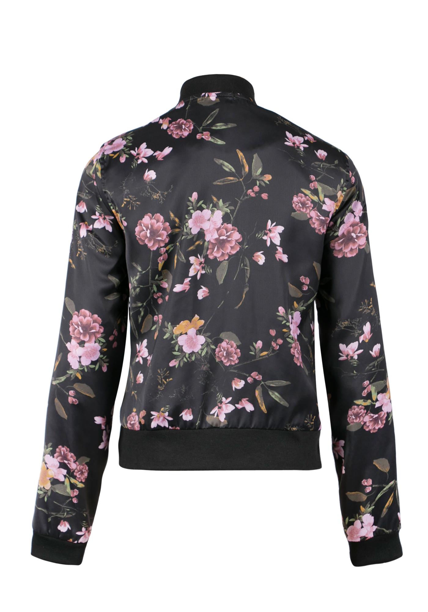 fefb03c6eb6 ... Ladies Floral Bomber Jacket