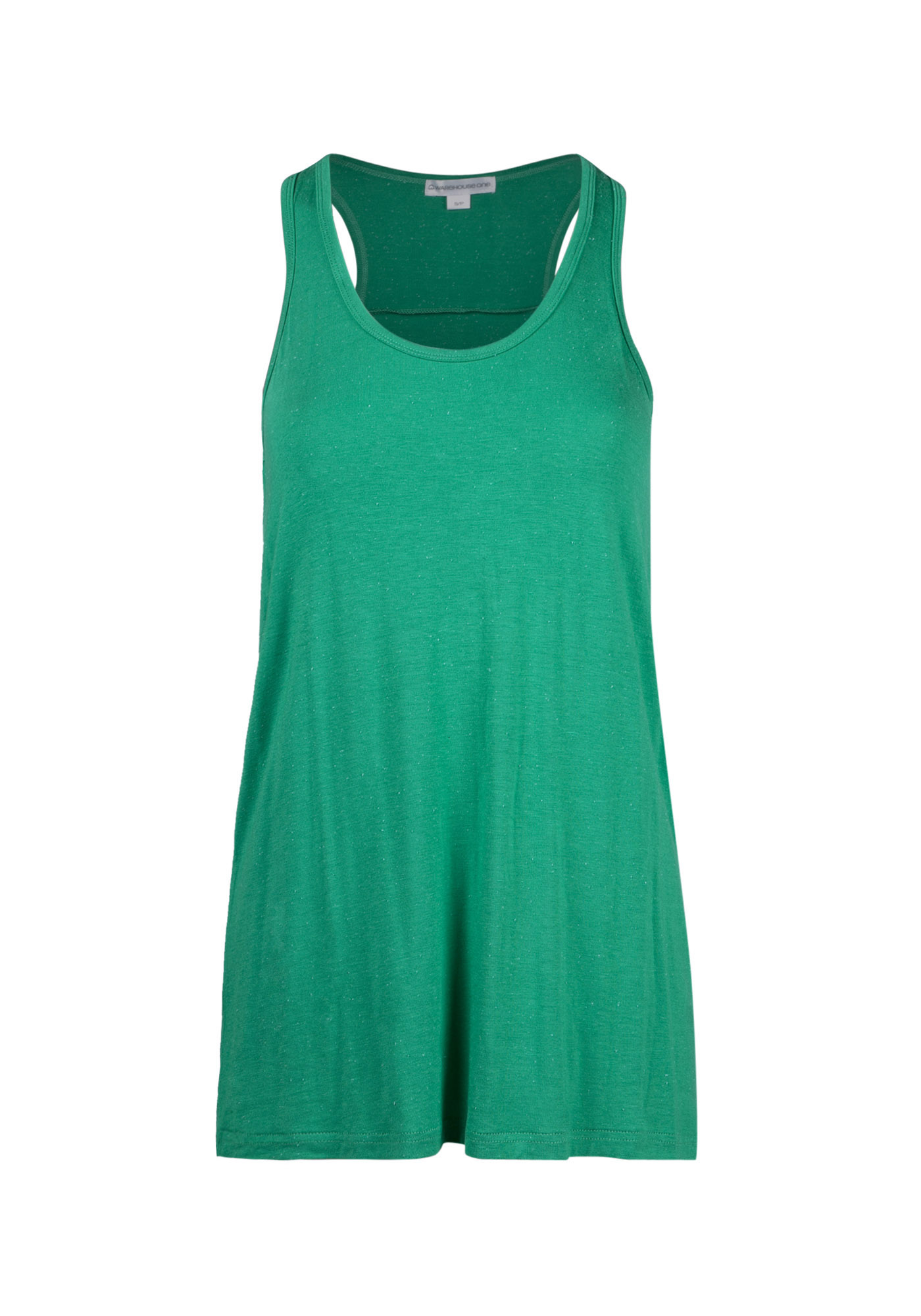 Women's Speckled Racerback Tank, EMERALD, hi-res