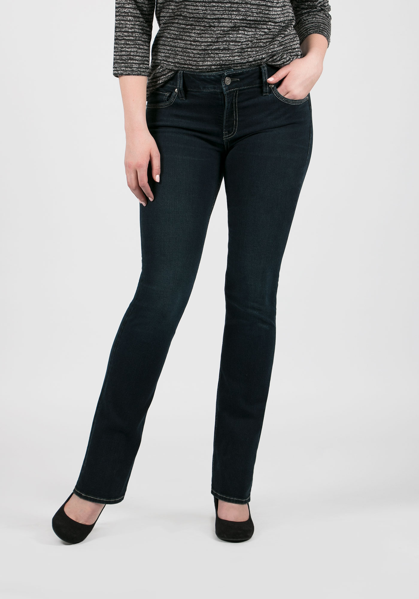 Ladies' Baby Boot Jeans, RINSE WASH, hi-res