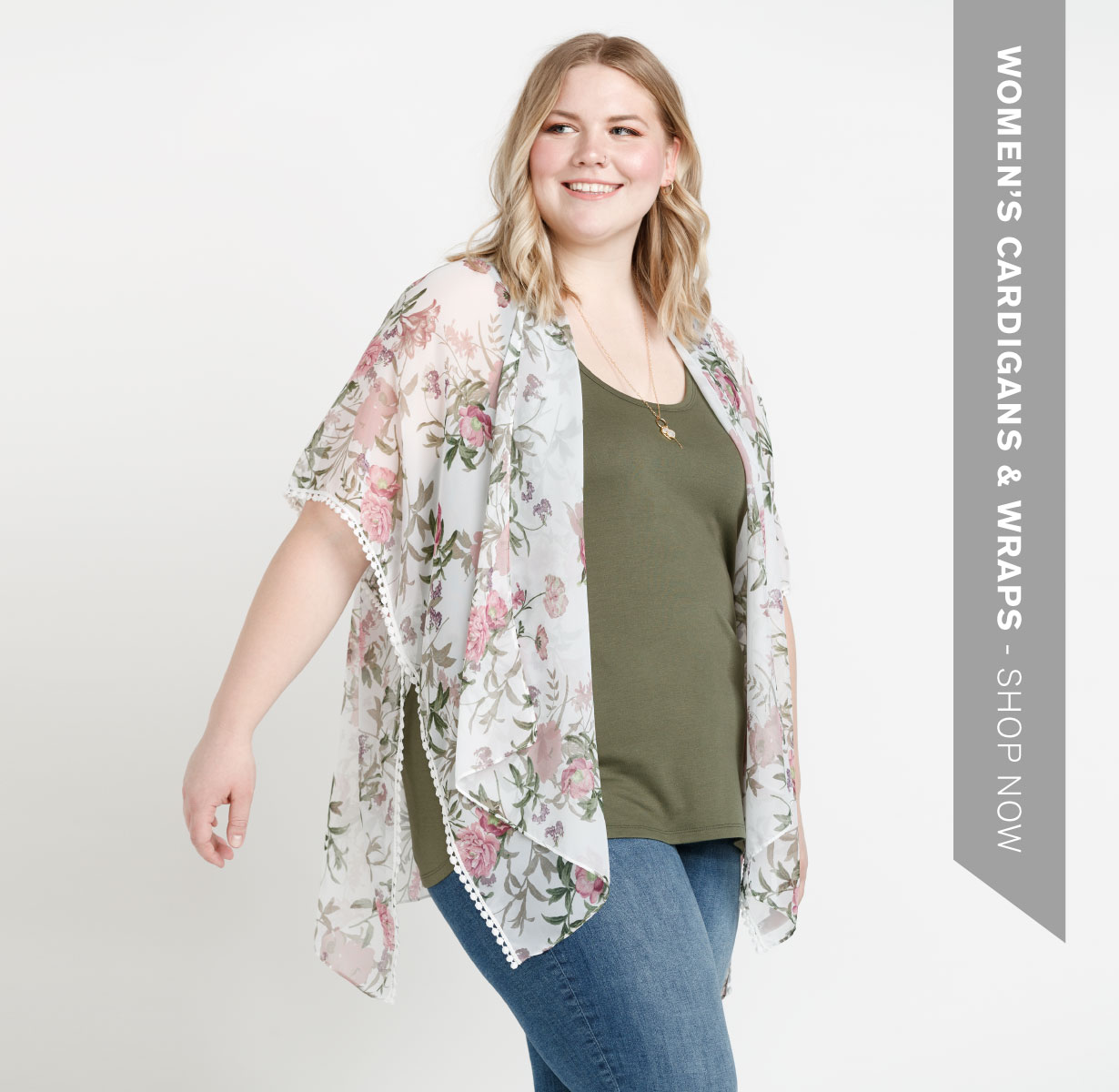 Women's cardigans and wraps.