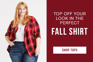 Top off your look in the perfect fall shirt. Shop tops.