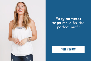Easy summer tops make for the perfect outfit. Shop tops.