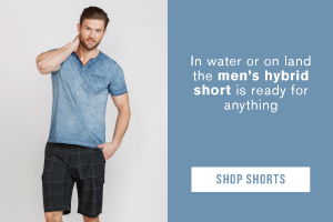 In water or on land the men's hybrid short is ready for anything. Shop shorts.
