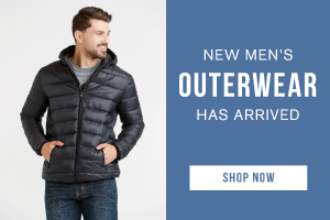 New men's outerwear has arrived. Shop now.