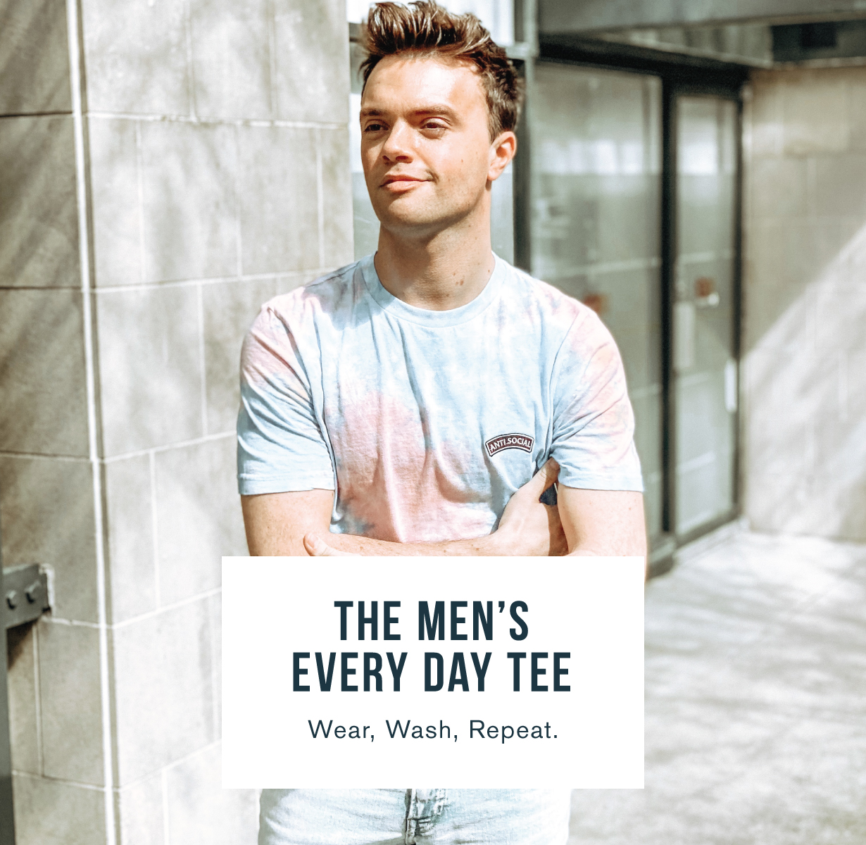 The men's every day tee. Wear, wash, repeat.