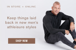 In store + online. Keep things laid back in new men's athleisure styles. Shop now.