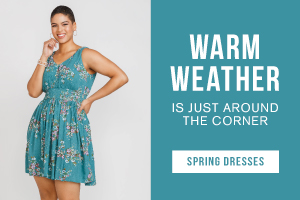 Warm weather is just around the corner. New spring dresses.