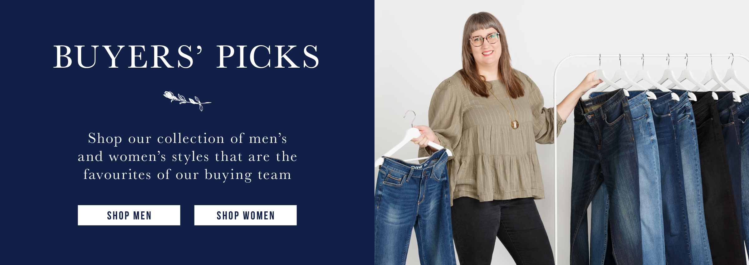 Give the gift of the perfect fitting jean this holiday. Shop men. Shop women.