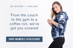 In store + online. From the couch to the gym to a coffee run, we've got you covered. Shop women's athleisure.