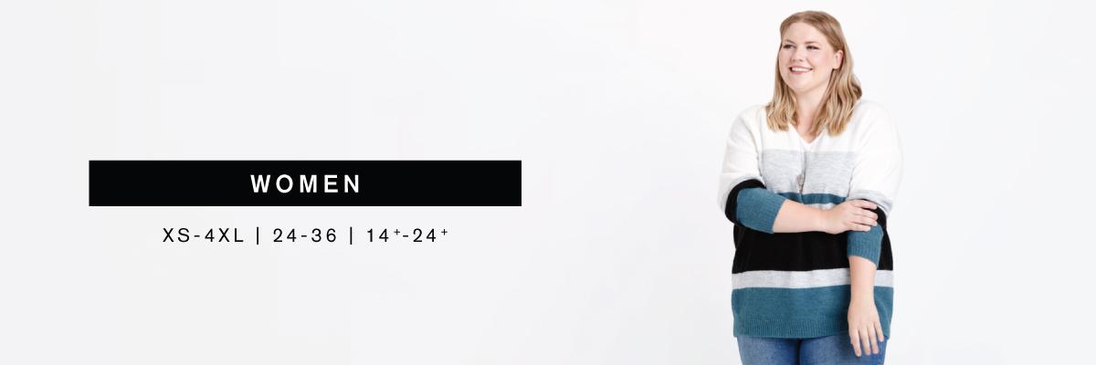 Women XS-4XL   24-36   14+-24+