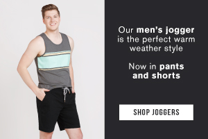 Our men's jogger is the perfect warm weather style. Now in pants and shorts.