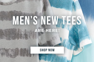 Men's new tees are here! Shop now.