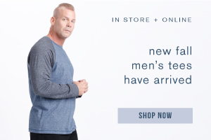 In store and online. New fall men's tees have arrived. Shop now.
