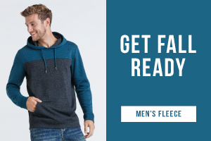 Get fall ready. Shop men's fleece.