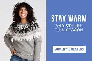 Stay warm and stylish this season. Shop women's sweaters.