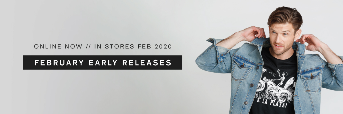 Online now. In stores Feb 2020. February early releases.