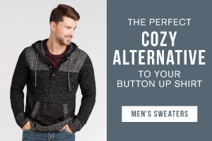 The perfect cozy alternative to your button up shirt. Shop men's sweaters.