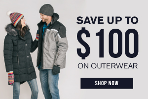 Save $100 on outerwear
